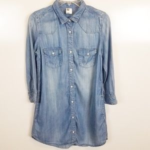 Sz 8 &Denim by H&M Button Down Chambray Shirt